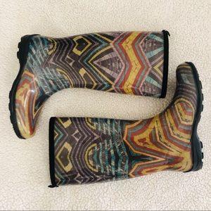 Multicolored Rain Boots